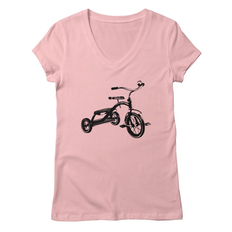 Dreirad in Women's Regular V-Neck Pink by schurter-bike-school's Artist Shop