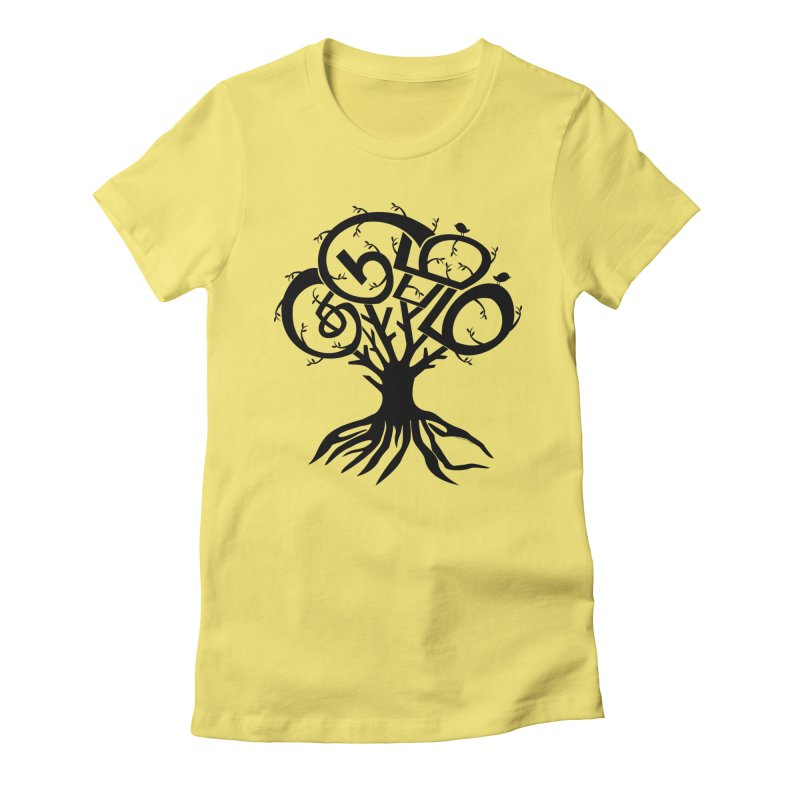 FAMILY TREE Women's Fitted T-Shirt by Schwartz's Artist Shop