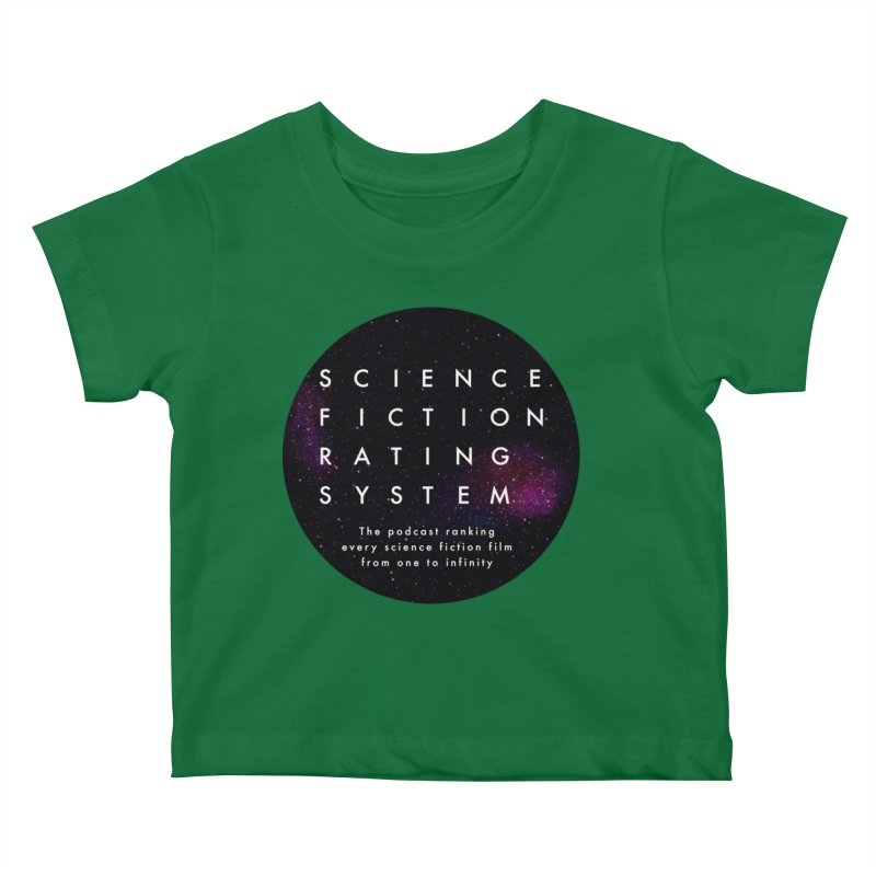 Circle SFRS Logo Kids Baby T-Shirt by Science Fiction Rating System Podcast Shop