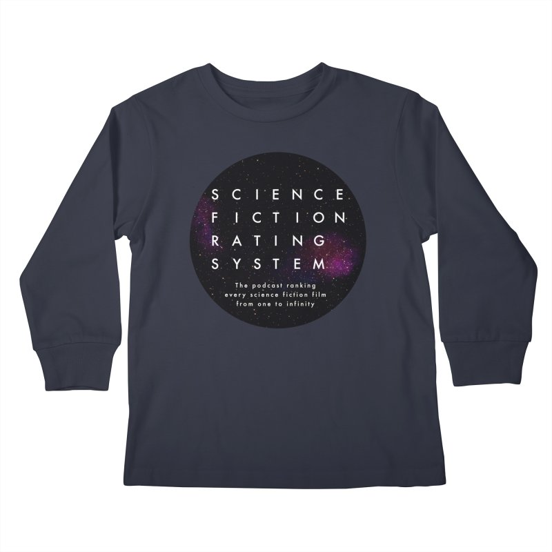 Circle SFRS Logo Kids Longsleeve T-Shirt by Science Fiction Rating System Podcast Shop