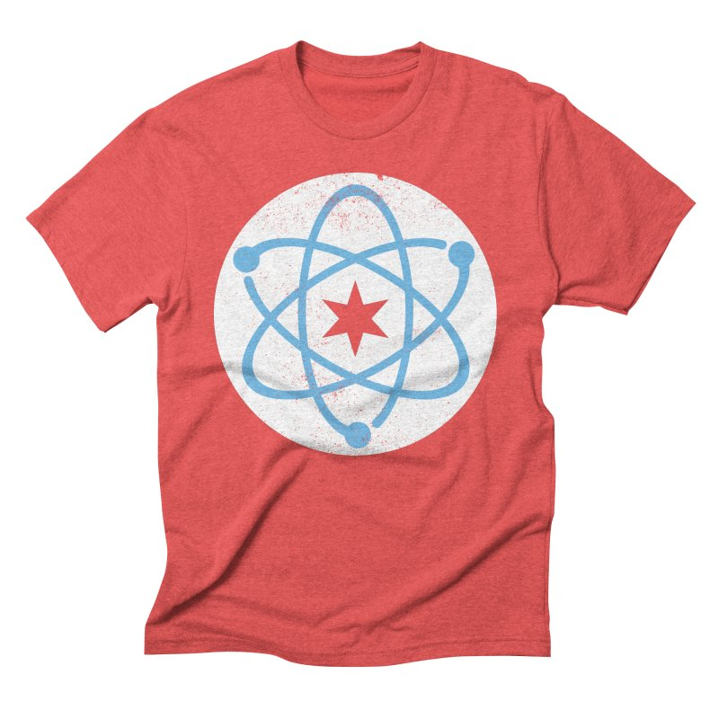 Red Worn Logo Men's T-Shirt by March For Science Chicago