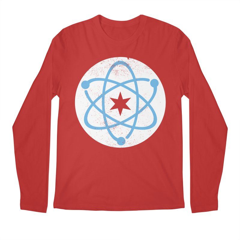 Red Worn Logo Men's Regular Longsleeve T-Shirt by March For Science Chicago