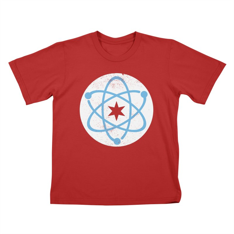 Red Worn Logo   by March For Science Chicago