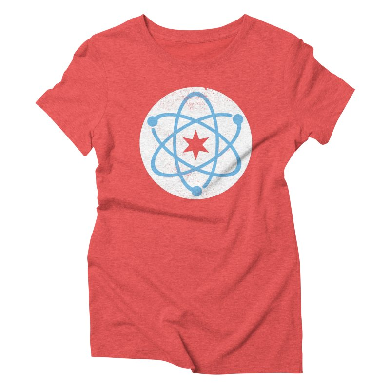 Red Worn Logo Women's T-Shirt by March For Science Chicago