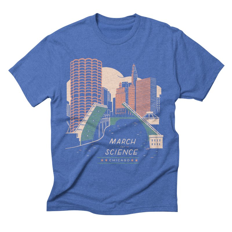 State Street Bridge by Julia Kuo Men's T-Shirt by March For Science Chicago