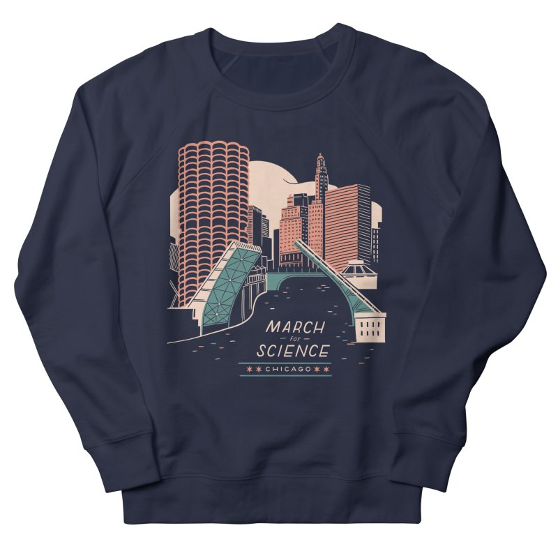 State Street Bridge by Julia Kuo Women's French Terry Sweatshirt by March For Science Chicago