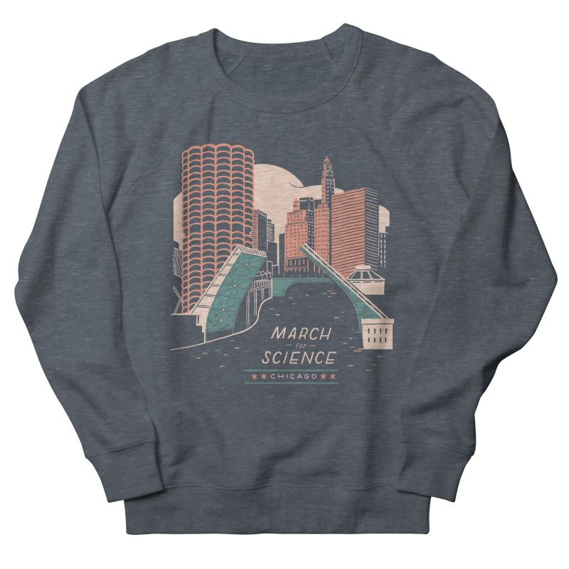 State Street Bridge by Julia Kuo Men's French Terry Sweatshirt by March For Science Chicago