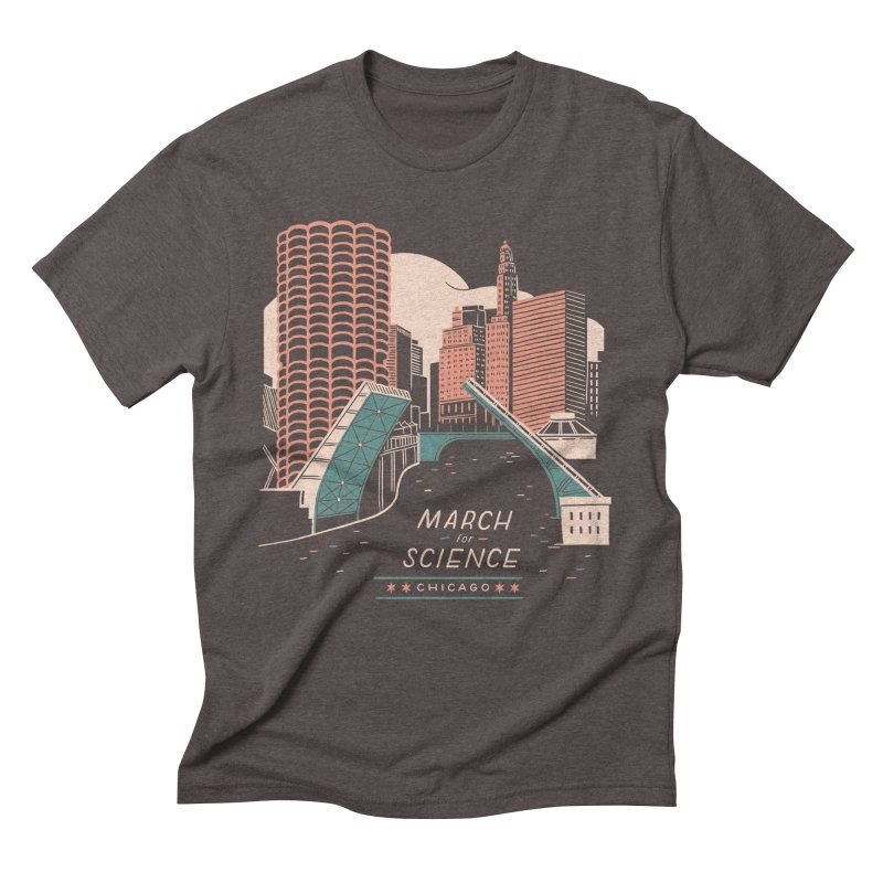 State Street Bridge by Julia Kuo Men's Triblend T-Shirt by March For Science Chicago