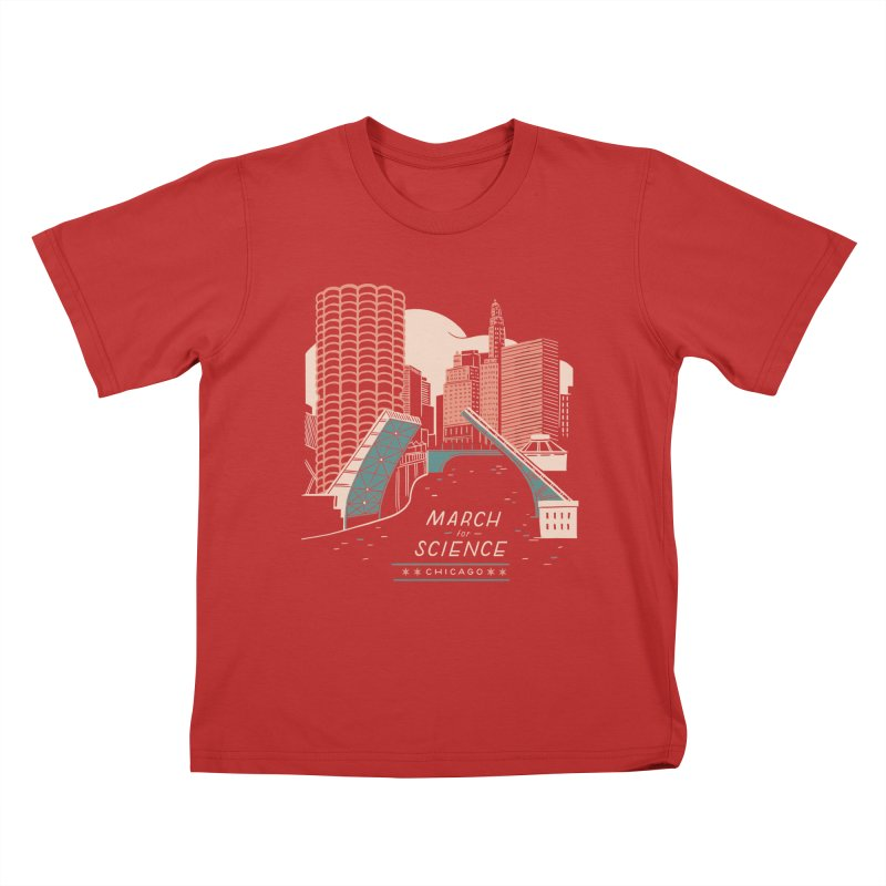 State Street Bridge by Julia Kuo Kids T-Shirt by March For Science Chicago