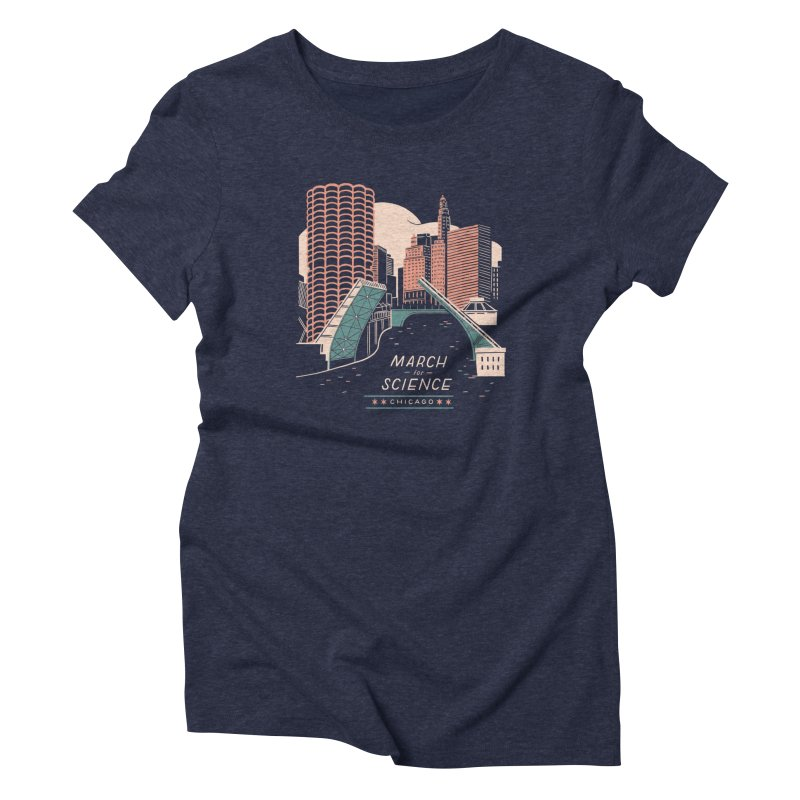 State Street Bridge by Julia Kuo Women's T-Shirt by March For Science Chicago