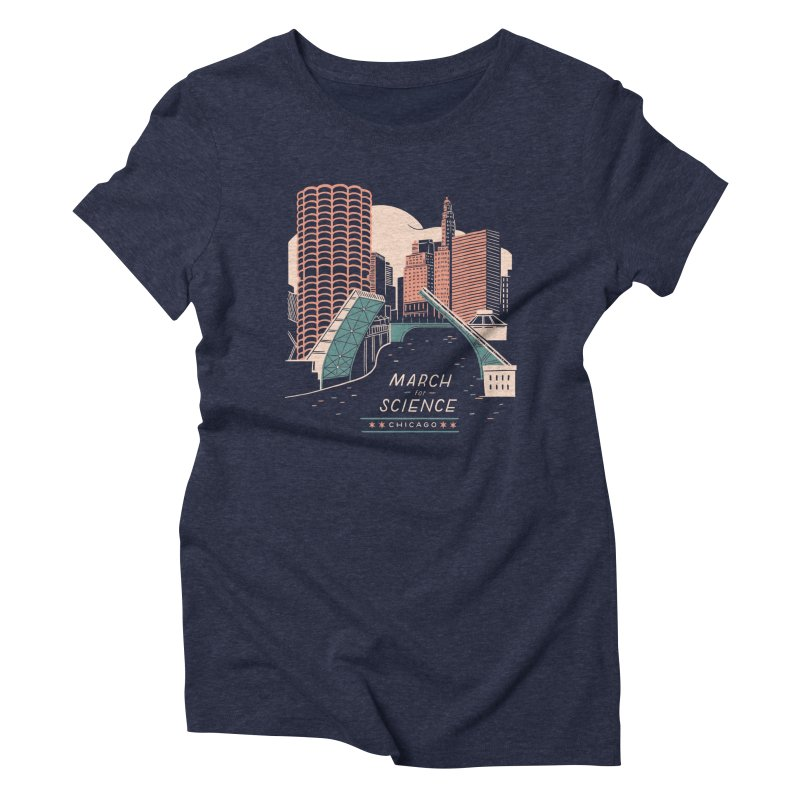 State Street Bridge by Julia Kuo Women's Triblend T-Shirt by March For Science Chicago