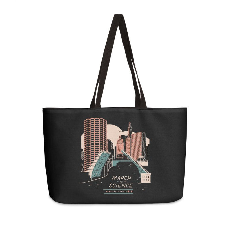 State Street Bridge by Julia Kuo Accessories Weekender Bag Bag by March For Science Chicago