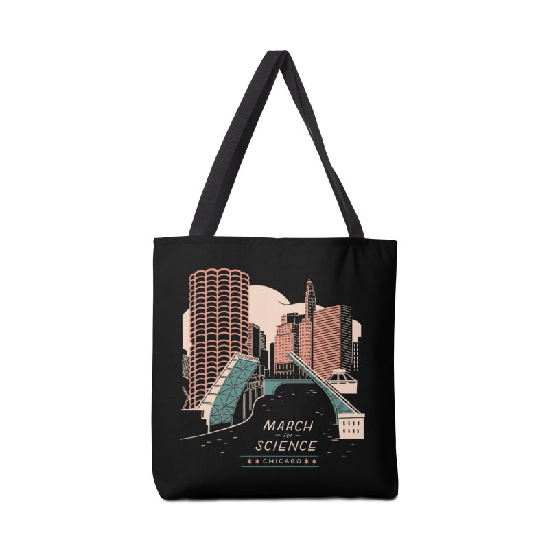 State Street Bridge by Julia Kuo Accessories Tote Bag Bag by March For Science Chicago