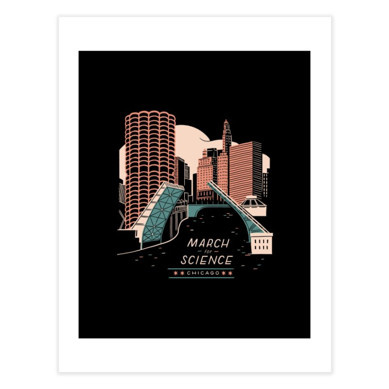 State Street Bridge by Julia Kuo Home Fine Art Print by March For Science Chicago