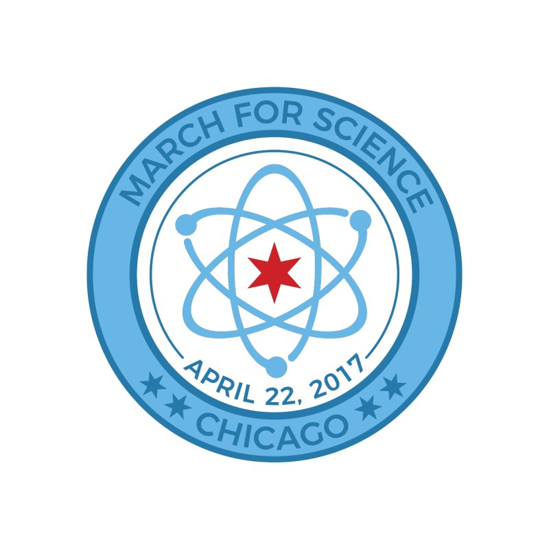 Emblem Men's Zip-Up Hoody by March For Science Chicago