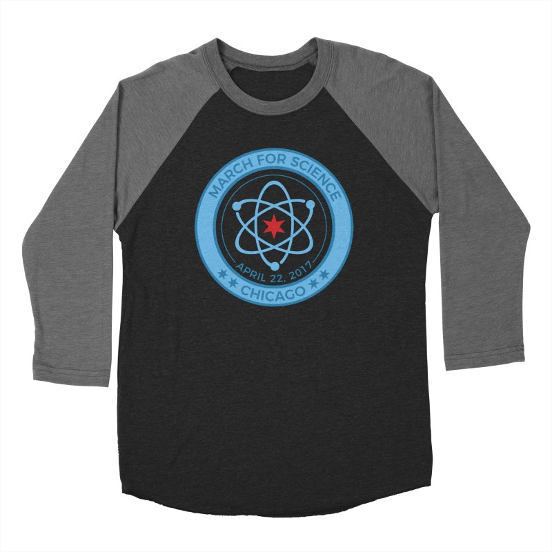 Emblem Women's Baseball Triblend Longsleeve T-Shirt by March For Science Chicago