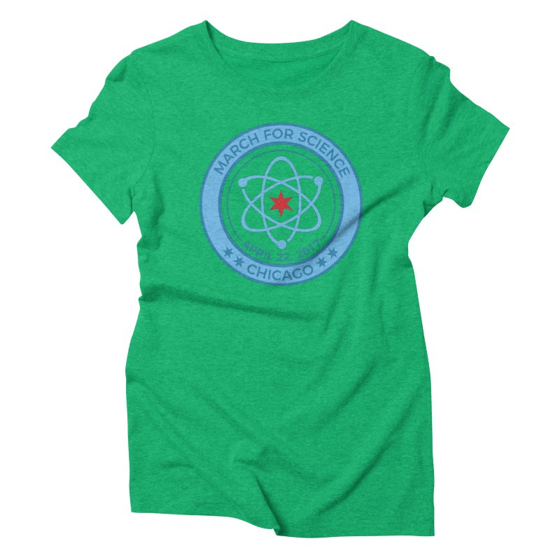 Emblem Women's Triblend T-Shirt by March For Science Chicago