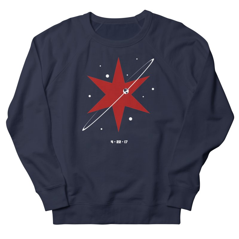 Revolution - Justin Van Genderen of 2046 Design Men's French Terry Sweatshirt by March For Science Chicago