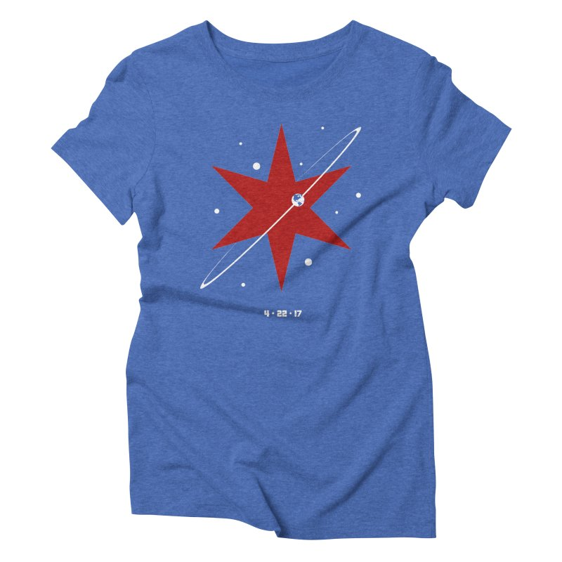 Revolution - Justin Van Genderen of 2046 Design Women's Triblend T-Shirt by March For Science Chicago