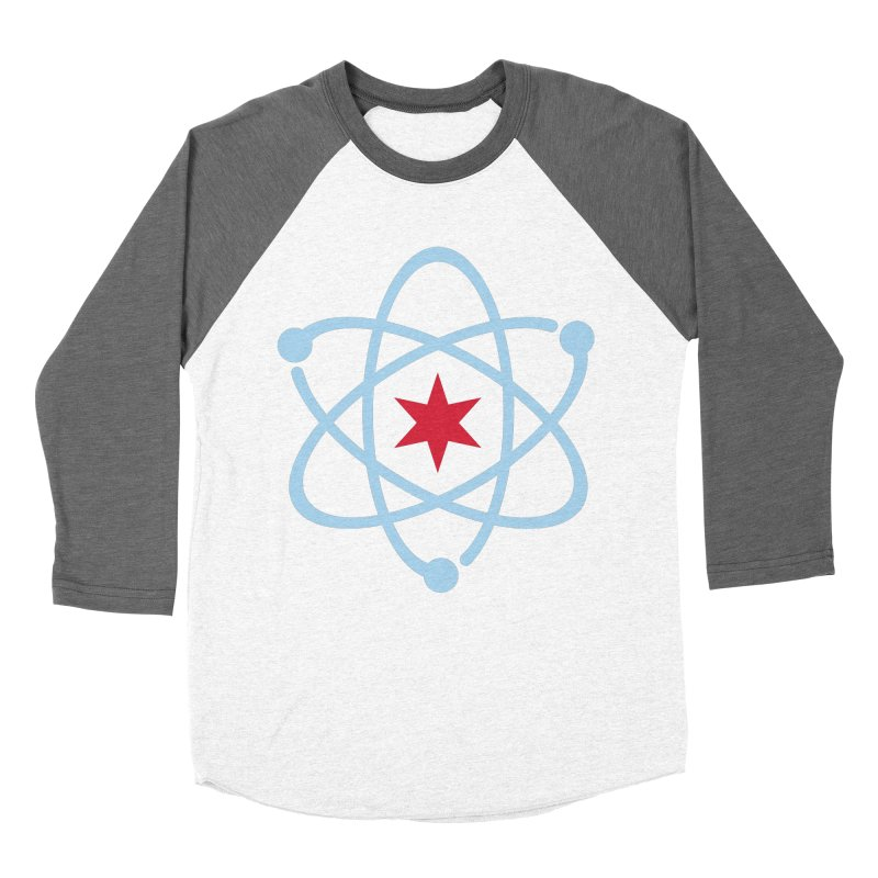 Donation Version - Original Logo Women's Baseball Triblend Longsleeve T-Shirt by March For Science Chicago