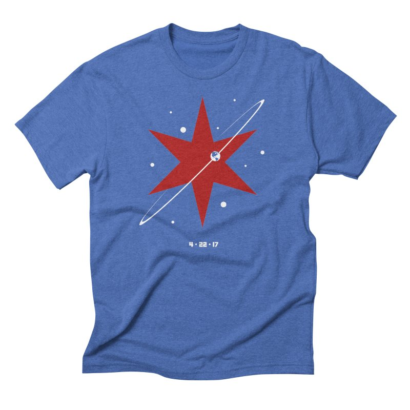Donation Version - Revolution by Justin Van Genderen of 2046 Design Men's Triblend T-Shirt by March For Science Chicago