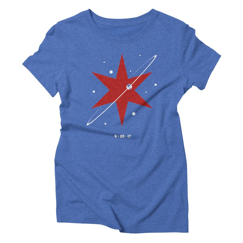 Donation Version - Revolution by Justin Van Genderen of 2046 Design Women's Triblend T-Shirt by March For Science Chicago