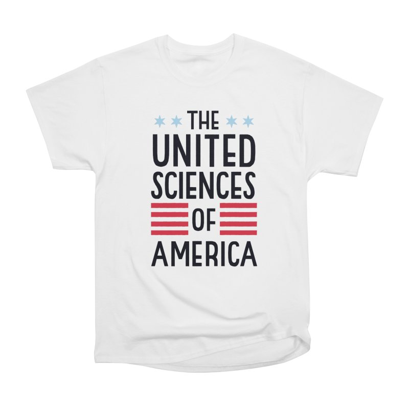 United Sciences of America by Julia Kuo Women's Heavyweight Unisex T-Shirt by March For Science Chicago