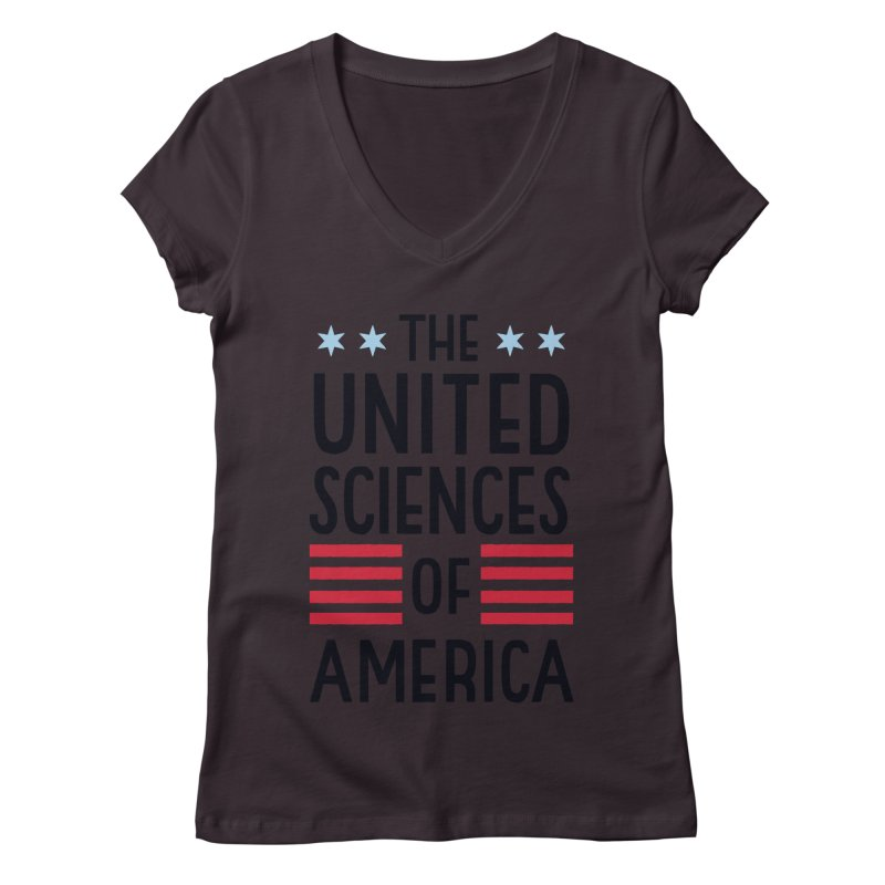 United Sciences of America by Julia Kuo Women's V-Neck by March For Science Chicago