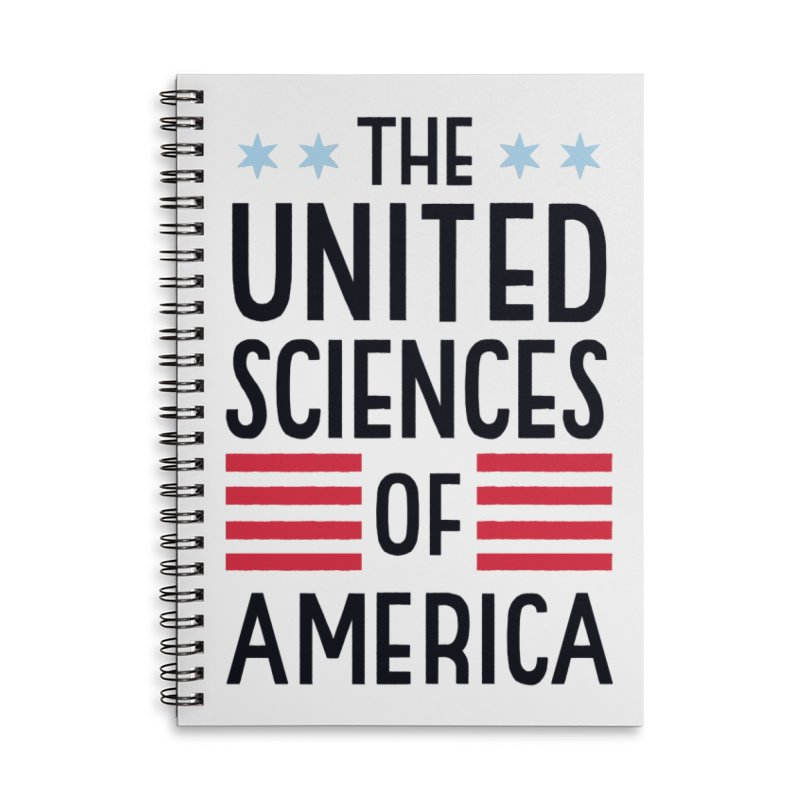 United Sciences of America by Julia Kuo Accessories Lined Spiral Notebook by March For Science Chicago