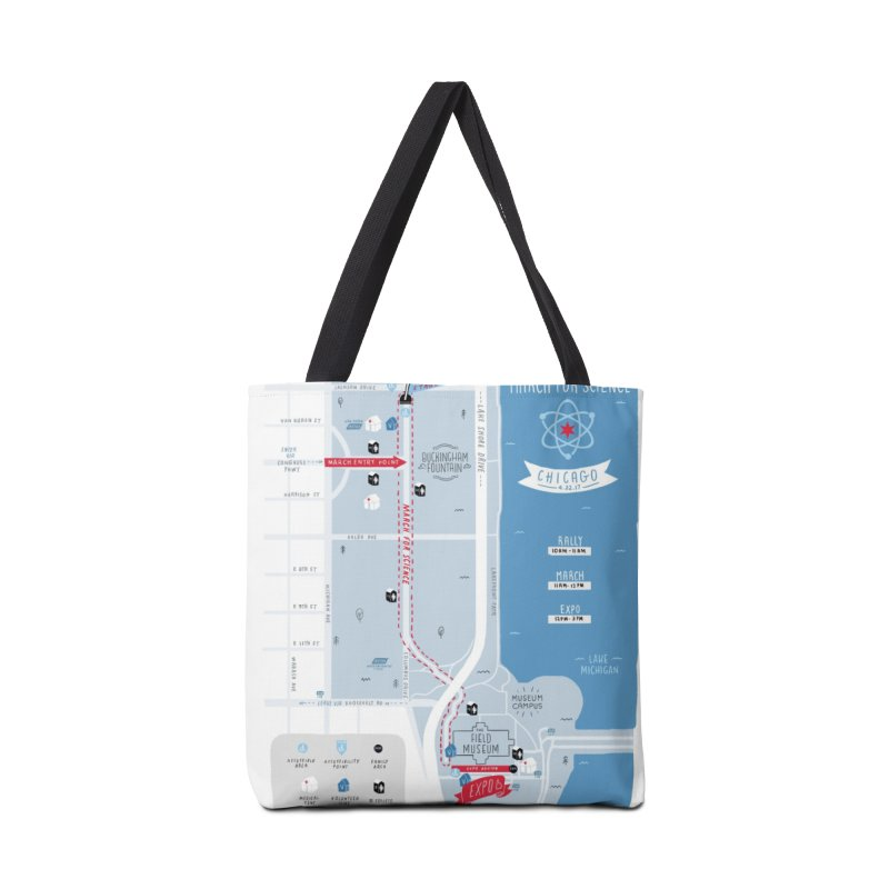 March For Science Chicago Commemorative Map by Julia Kuo Accessories Tote Bag Bag by March For Science Chicago