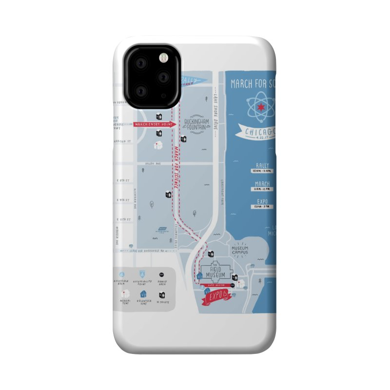 March For Science Chicago Commemorative Map by Julia Kuo Accessories Phone Case by March For Science Chicago