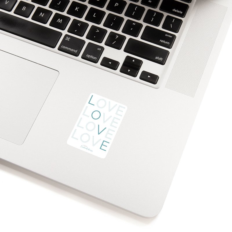 LOVE LOVE LOVE LOVE (blue letters) Accessories Sticker by Science of Connectedness
