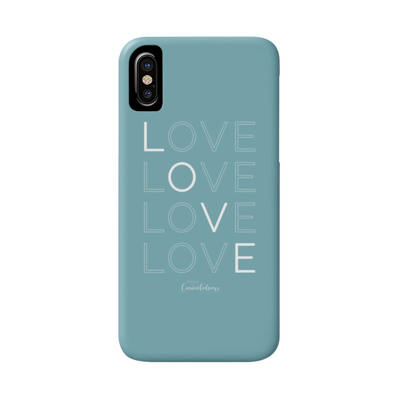 LOVE LOVE LOVE LOVE (white letters) Accessories Phone Case by Science of Connectedness