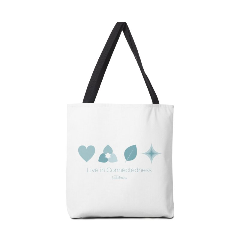 Live in Connectedness (row) Accessories Tote Bag Bag by Science of Connectedness
