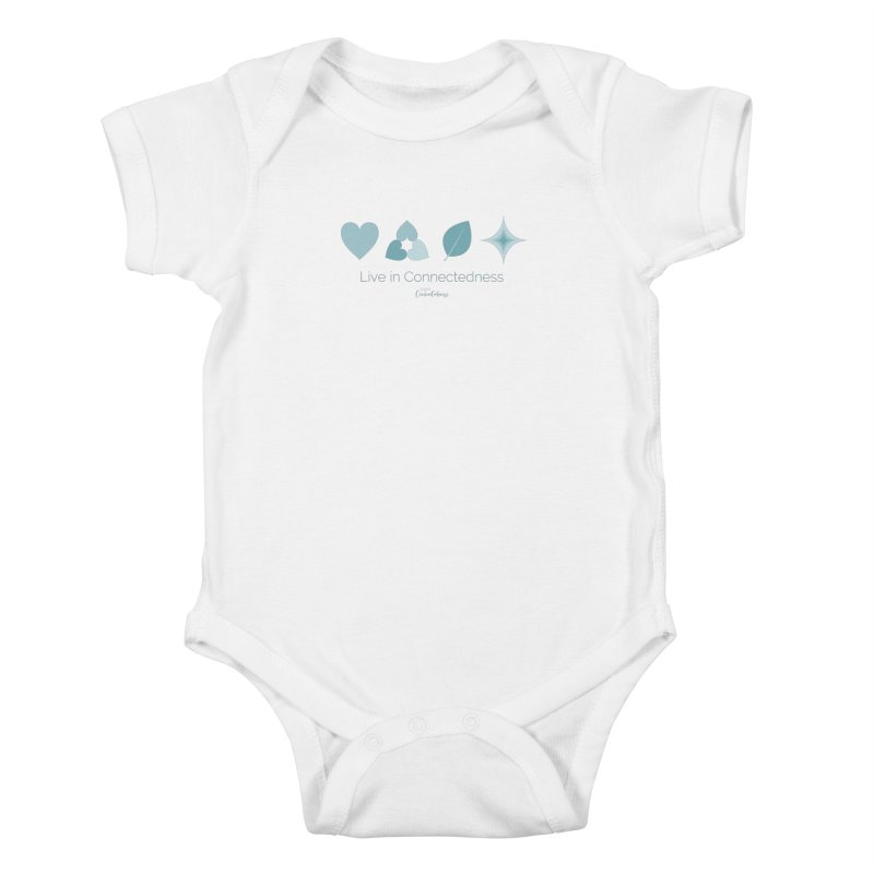 Live in Connectedness (row) Kids Baby Bodysuit by Science of Connectedness