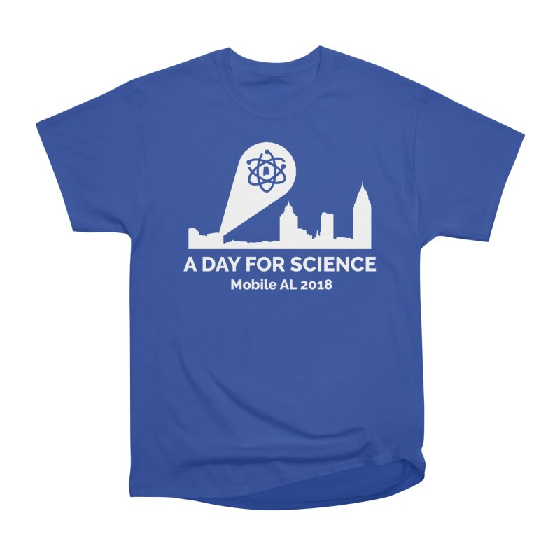 Calling on Science! in Women's Heavyweight Unisex T-Shirt Royal Blue by March for Science Mobile Store