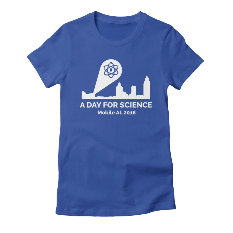 Calling on Science! Women's Fitted T-Shirt by March for Science Mobile Store