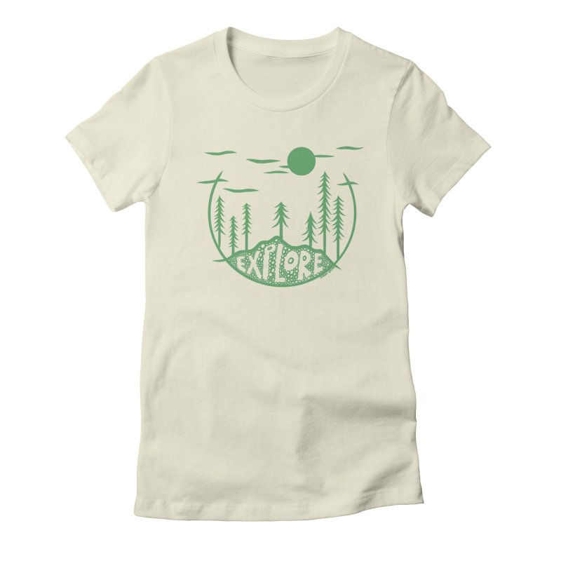 EXPLORE in Women's Fitted T-Shirt Natural by sarrah kaliski