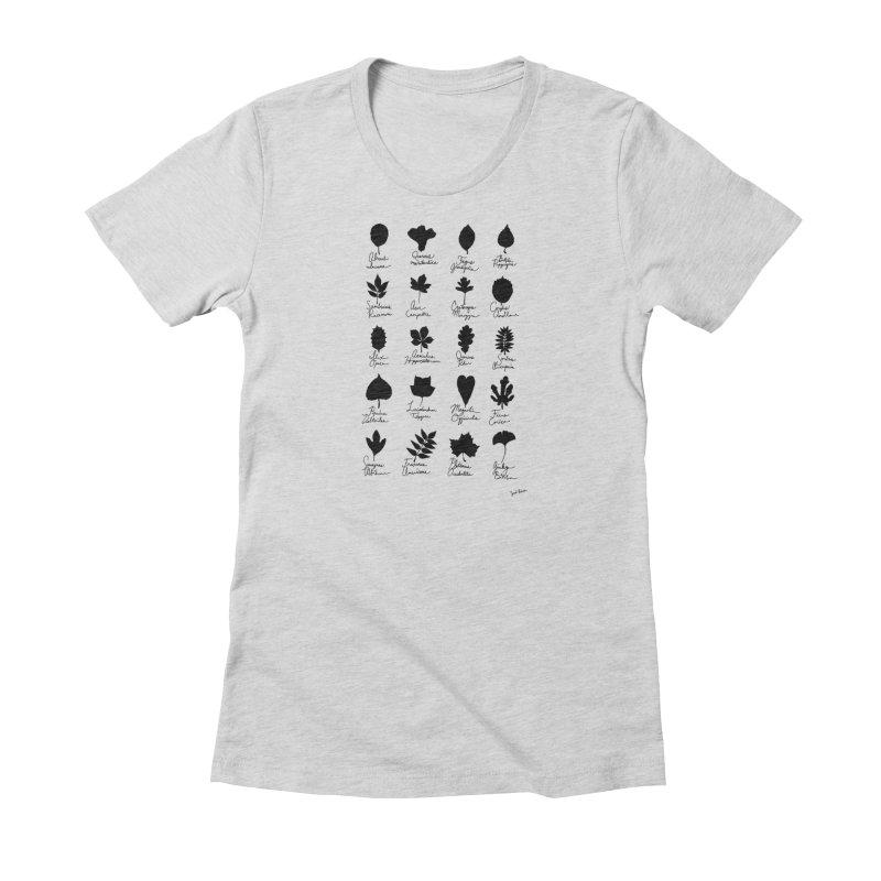FIELDNOTES in Women's Fitted T-Shirt Heather Grey by sarrah kaliski