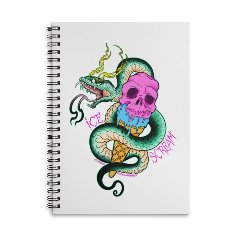Ice Scream Accessories Lined Spiral Notebook by Scoopie.Life