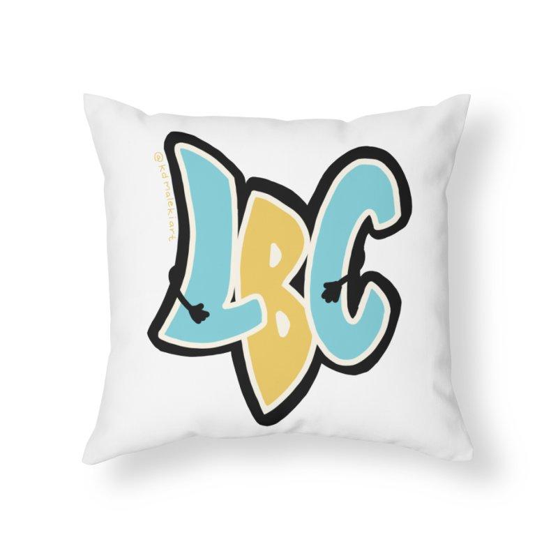 LBC Hug Home Throw Pillow by Scoopie.Life