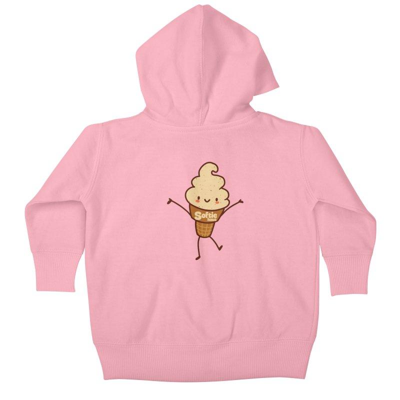 Softie Mascot Kids Baby Zip-Up Hoody by Scoopie.Life