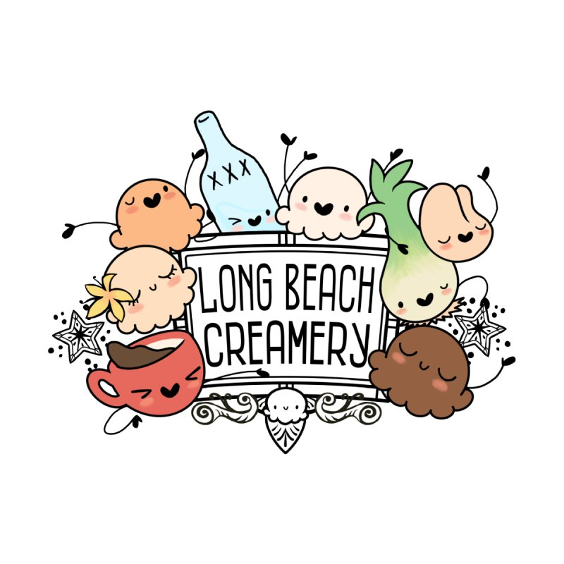 Long Beach Creamery Scoopie Logo by Scoopie.Life