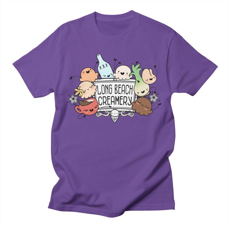 Long Beach Creamery Scoopie Logo Men's T-Shirt by Scoopie.Life