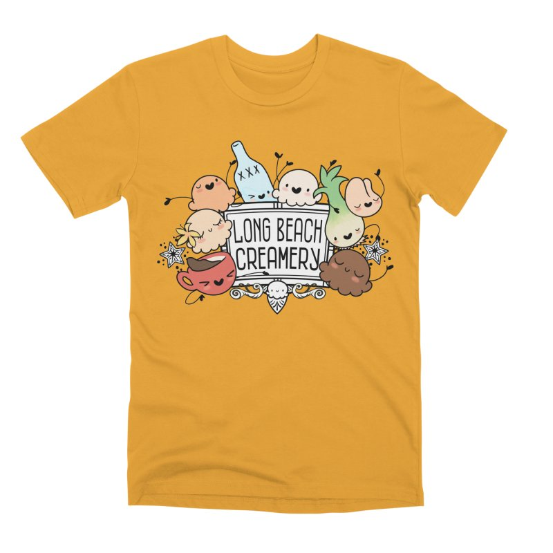 Long Beach Creamery Scoopie Logo Men's Premium T-Shirt by Scoopie.Life