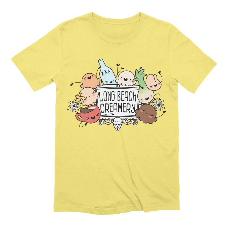 Long Beach Creamery Scoopie Logo Men's Extra Soft T-Shirt by Scoopie.Life