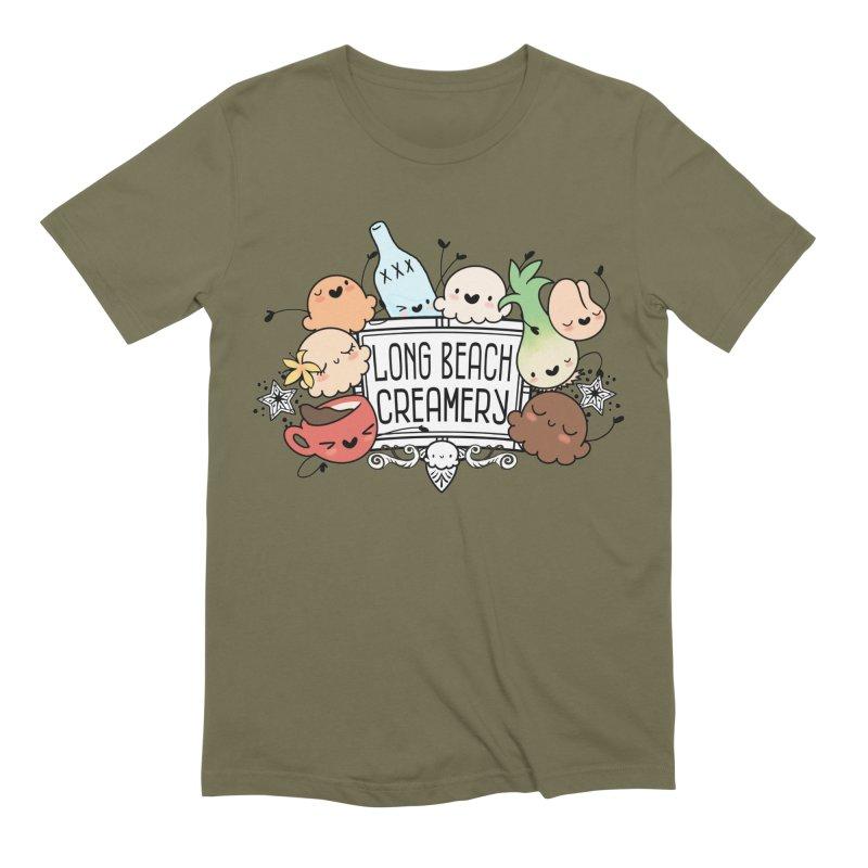 Long Beach Creamery Scoopie Logo Men's Extra Soft T-Shirt by Scoopie.Life