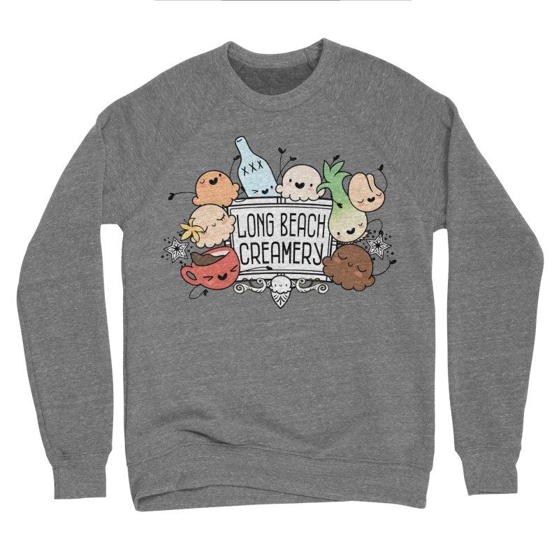 Long Beach Creamery Scoopie Logo Men's Sponge Fleece Sweatshirt by Scoopie.Life