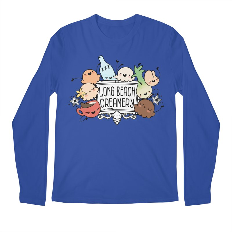 Long Beach Creamery Scoopie Logo Men's Regular Longsleeve T-Shirt by Scoopie.Life