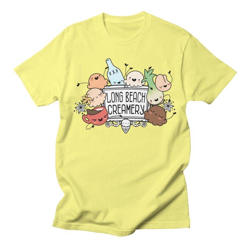 Long Beach Creamery Scoopie Logo Men's Regular T-Shirt by Scoopie.Life